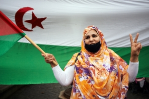 Saharawi refugees in Toulouse, France, protest the recognition of Moroccan sovereignty over Western Sahara in December 2020. PA Images