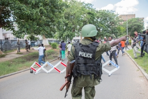 Zambia election violence flares