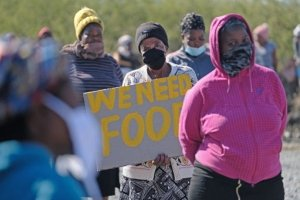 Protest over lack of food and jobs, South Africa. Press Association