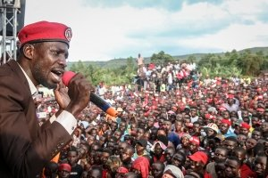 Uganda's opposition leader 'Bobi Wine'. PA Images